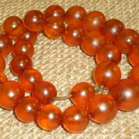 32 Gr! Made in 1931 Antique Natural Genuine Baltic Amber Round Beads Necklace (71)