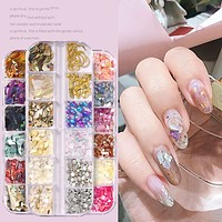 3D Shell Nail Art Decorations Natural Sea-shell Abalon Silces Gradient Crushed Stone Nail Accessories akcesoria do paznokci