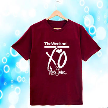 the weeknd xo till we overdose maroon T-shirt