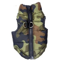 Camo Pattern Waterproof  Print Dog Coat