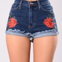 Rose Tattoo Shorts - Dark