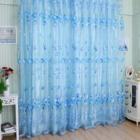 1M*2M Window Curtains Sheer Voile Tulle for Bedroom & Living Room