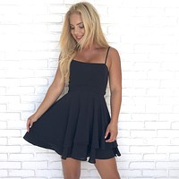 Cheers To That Skater Dress in Black