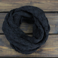 Womens Knitted Scarf, Knit Infinity Scarf, Infinity Knit Scarf, Fall Scarves, Winter Scarf, Chunky Knit Scarf, Black Infinity Scarf, Cowl