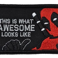 This is What Awesome Looks Like, Deadpool Parody - 2x3 Morale Patch - Black