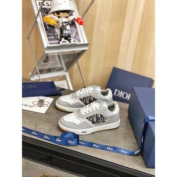 Dior Men's And Women's Leather B27 Low Top Sneakers Shoes