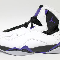 Jordan Men's True Flight White/Black/Concord Shoes 342964 153