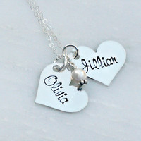 Hand Stamped Necklace - Mommy Necklace - Name Necklace - Hand Stamped Jewelry - Mothers Necklace