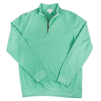 Solid Ribbed 1/4 Zip Pullover in Haint Blue by Southern Tide