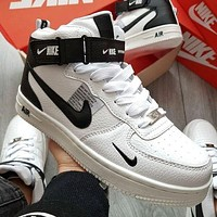 NIKE AIR FORCE 1 AF1 ladies and men's hight help casual sneakers shoes