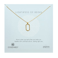 Lightness of Being Air Hexagon Necklace, Gold Dipped | Dogeared
