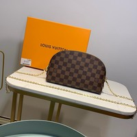 Kuyou Gb1986 Louis Vuitton Lv M47353 Damier Ebene Travel All Collections Cosmetic Pouch Gm 24.0x 17.0x 6.0 Cm