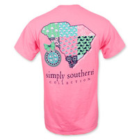 Simply Southern SC State T-Shirt - Hot Pink
