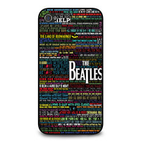 the beatles typography song lyric iPhone 4/4s Case