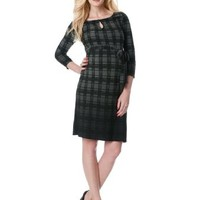 A Pea in the Pod: 3/4 Sleeve Belted Maternity Dress