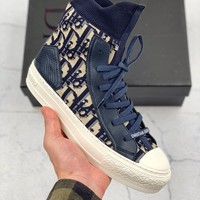 Kuyou Gx29827 Dior 19ss Dior Oblique Canvas High Top Shoes