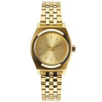 Ladies' Nixon The Small Time Teller All Gold-Tone Watch