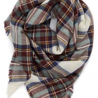 Evelyn K Plaid Blanket Scarf | Nordstrom