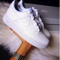 NIKE AIR FORCE 1 AF1 x LV Louis Vuitton ladies and men's low-top casual sneakers shoes
