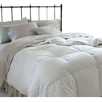 King Size Down Alternative Comforter in White Microfiber