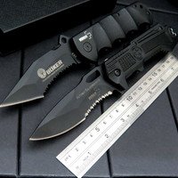 Custom Pocket Hunting WFA-1 Survival Folding Knife 9Cr Blade Aluminium Alloy Handle Hunting Camping Knives +Very good quality