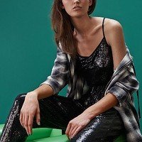 Sparkle & Fade Sequin Jumpsuit - Urban Outfitters