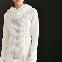 BDG Cable Hoodie Sweater - Urban Outfitters