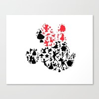 Girl mouse with the red bow Canvas Print by studiomarshallarts