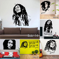 Bob Marley Quotes Wall Sticker Vinyl Wall Decals Quotes Poster Wall Art Wallpaper Wall Stickers Home Decoration Free Shipping