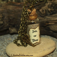 Jar of Dirt Necklace and Key Charm Disney by LifeistheBubbles