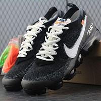 Tagre™ ONETOW Best Online Sale OFF WHITE x Nike Air VaporMax Vapor Max 2018 Flyknit Men Women Sport Running Shoes AA3831-001