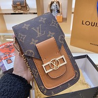 LV 2020 new mobile phone bag chain bag shoulder bag
