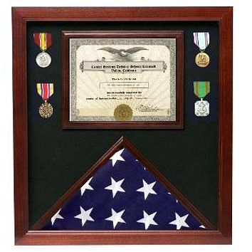 Flag Connections Veterans Made Flag Document Case, Cherry American Flags 3 x 5