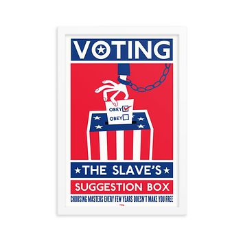 Voting The Slaves Suggestion Box Framed Print