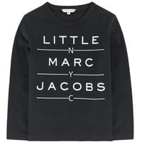 Little Marc Jacobs Boys Black Logo T-shirt (Mini-Me)