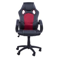 HomCom Racing Back Office Chair - Black/Red