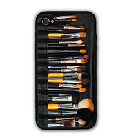Beauty Black Makeup Brushes Set Case Cover - Rubber Silicone Case For iPhone 5C