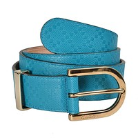 Gucci Unisex Leather Turquoise Belt