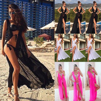 Summer Women Bathing Swim Suit Sexy Chiffon Bikini Swimwear Cover Up Beach Dress