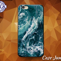 Waves Deep Blue Tumblr Inspired Ocean Sea Wavy Cute Case iPhone 5/5s and 5c and iPhone 6 and 6+ and iPhone 6s and iPhone 6s Plus iPhone SE