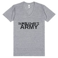 Dumbledore's Army V-Neck-Unisex Athletic Grey T-Shirt