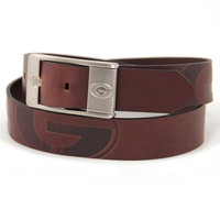 Georgia Bulldogs NCAA Men's Embossed Leather Belt