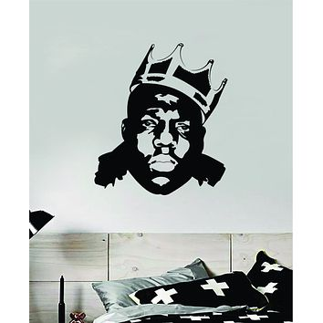Biggie Face Wall Decal Home Decor Vinyl Sticker Bedroom Room Art Notorious BIG Music Rap Kids Teen Girls