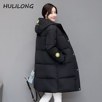 HULILONG Winter Jacket Women 2017 Winter And Autumn Wear High Quality Parkas Winter Jackets Outwear Women Long Coats 4XL