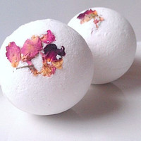 Rose Bath Bombs All Natural 2 Pack, Essential Oil Bath Bombs, All Natural Bath Bombs, Holiday Gifts, Gifts For Her