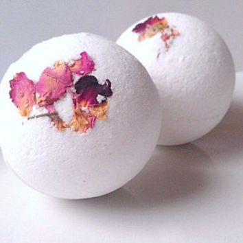 Rose Bath Bombs All Natural 2 Pack, Essential Oil Bath Bombs, All Natural Bath Bombs, Valentines Day Gift Ideas, Gifts For Her