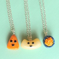 Handmade Macaroni and Cheese Three-Way Best Friend Necklaces - Whimsical & Unique Gift Ideas for the Coolest Gift Givers