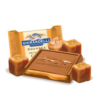 Ghirardelli Milk Chocolate with Caramel Filling Squares: 50-Piece Box