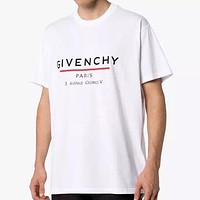 Givenchy Letter Print Loose Short Sleeve T-Shirt