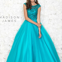 Red Madison James Prom Ball gown 15-167